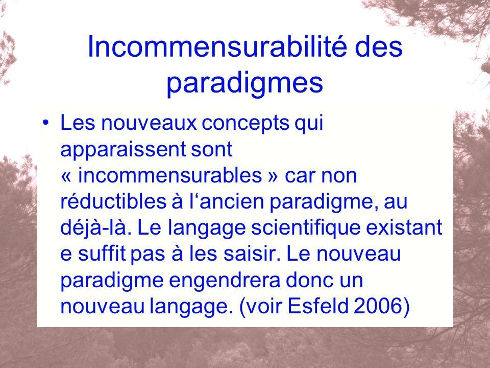 Incommensurabilité des paradigmes