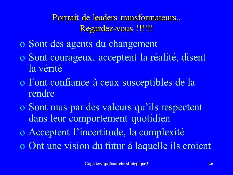 Portrait de leaders transformateurs.. Regardez-vous !!!!!!