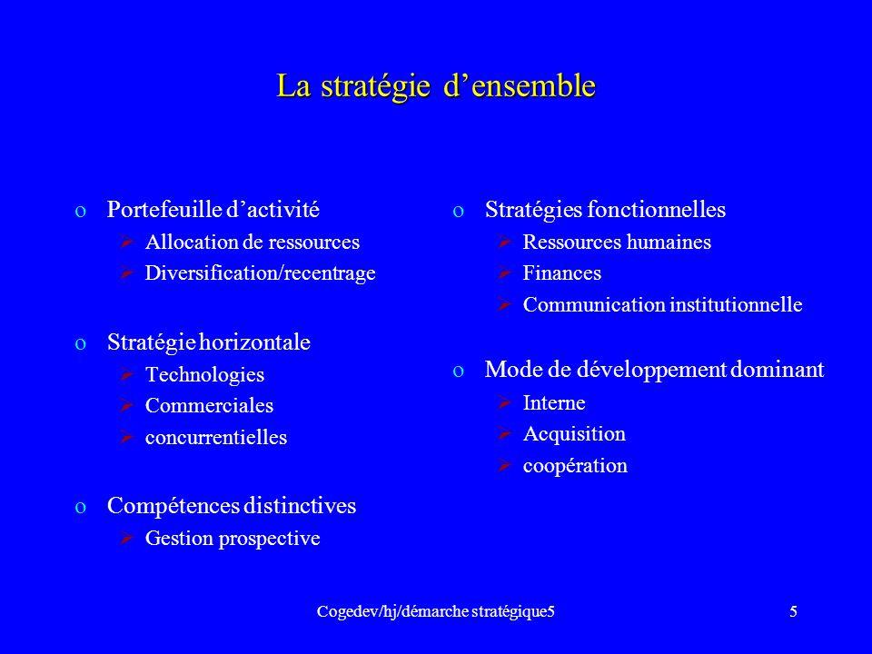 La stratégie d'ensemble