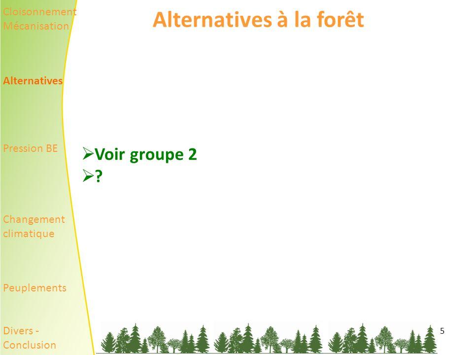 Alternatives à la forêt
