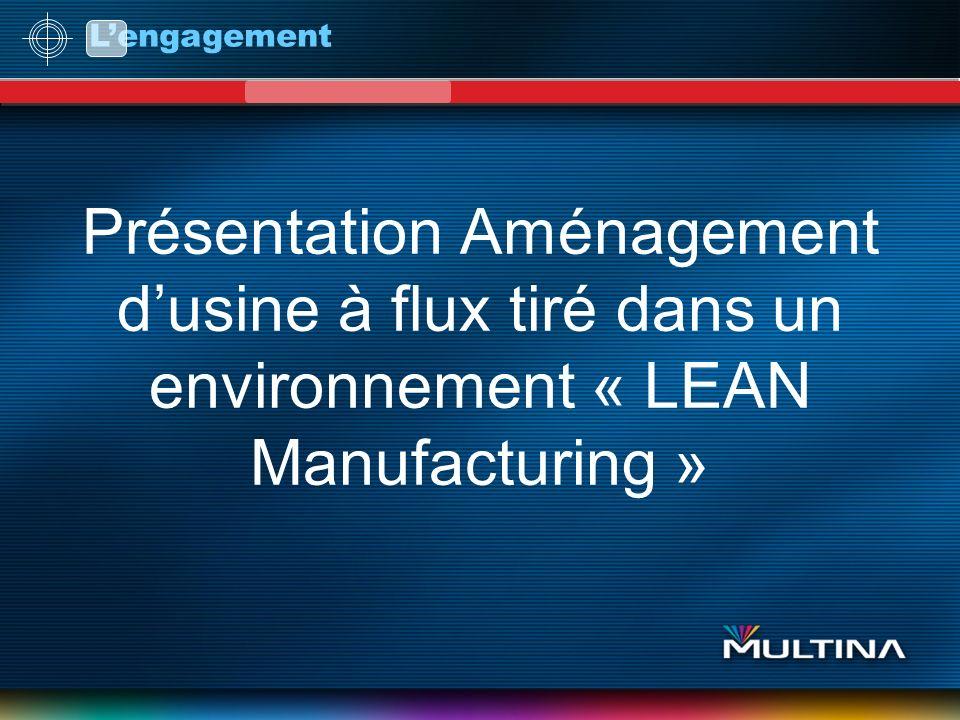 L'engagement Présentation Aménagement d'usine à flux tiré dans un environnement « LEAN Manufacturing »