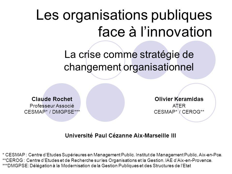 Les organisations publiques face à l'innovation