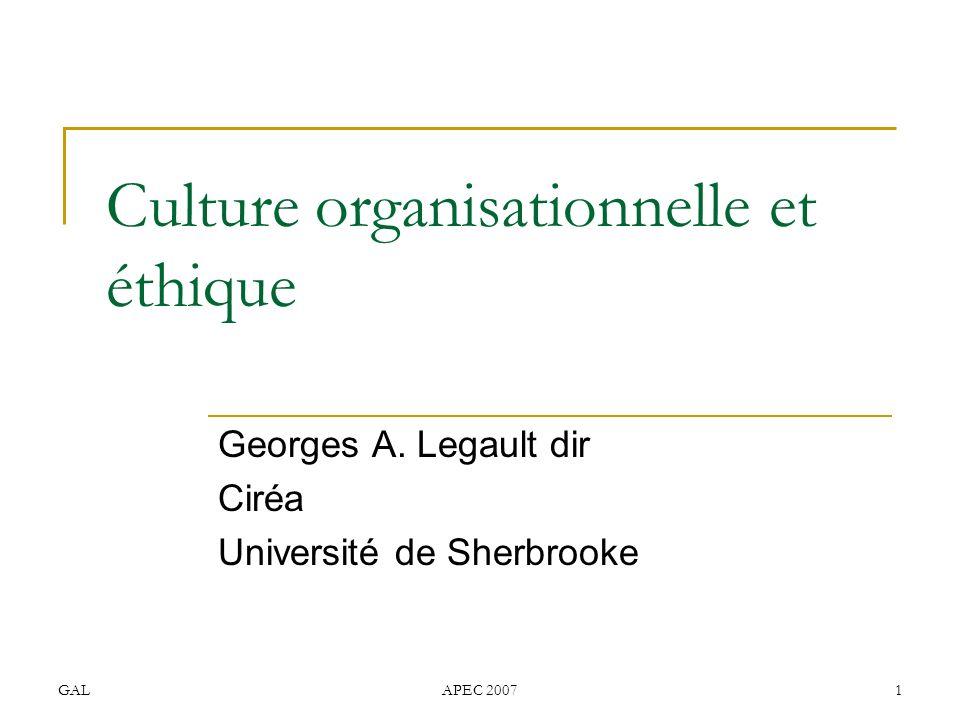 Culture organisationnelle et éthique