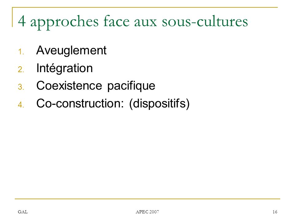 4 approches face aux sous-cultures