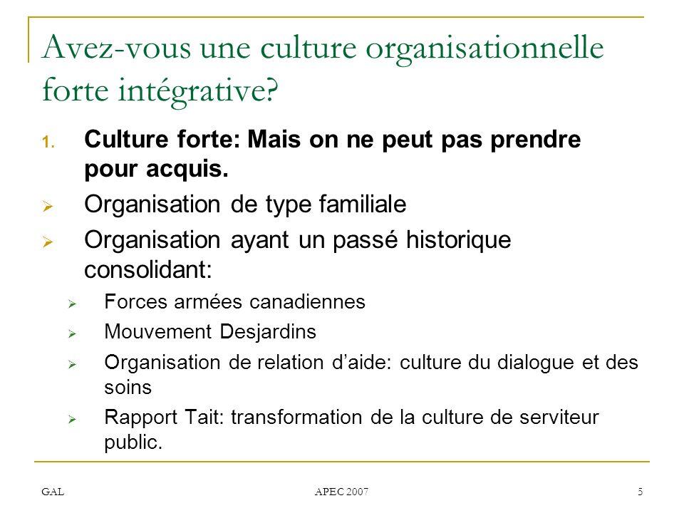 Avez-vous une culture organisationnelle forte intégrative