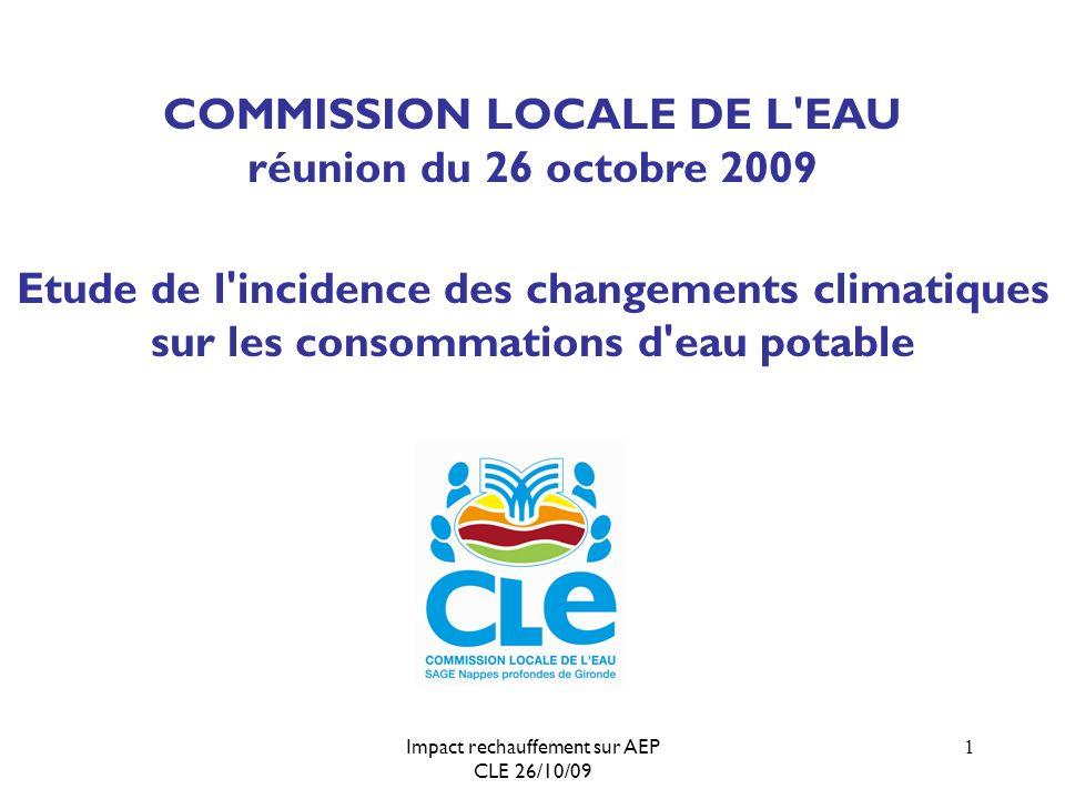 Impact rechauffement sur AEP CLE 26/10/09