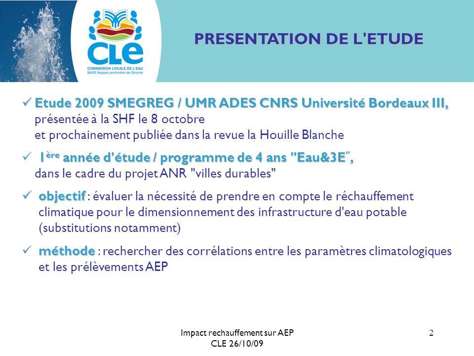 PRESENTATION DE L ETUDE