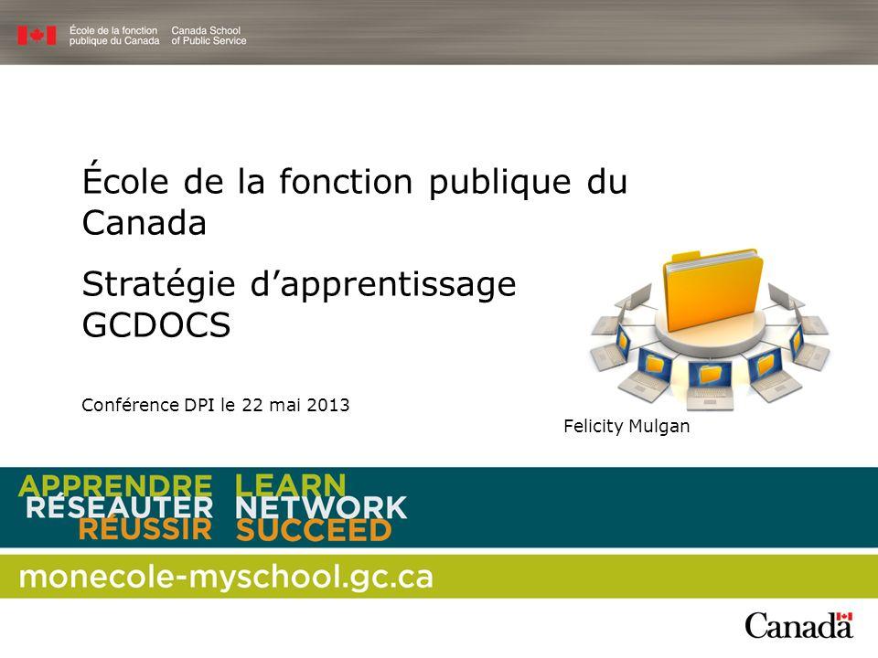 École de la fonction publique du Canada