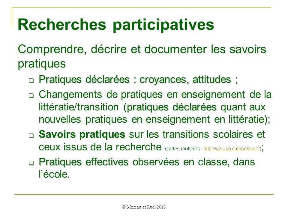 Recherches participatives