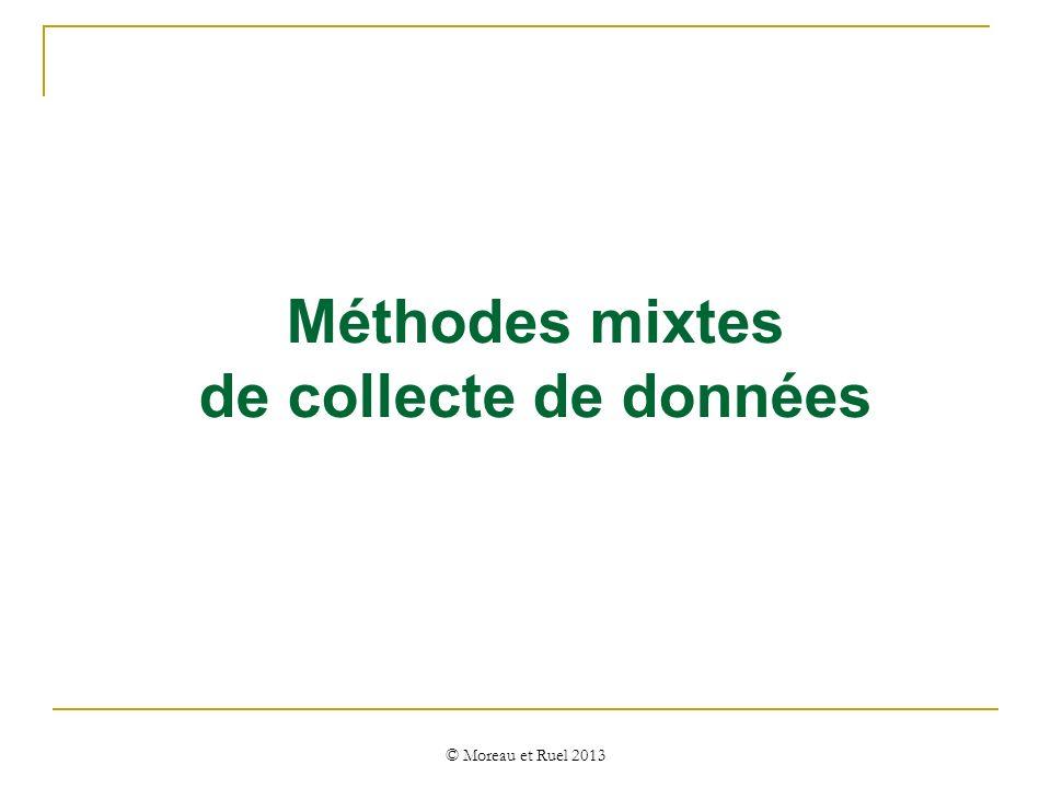 Méthodes mixtes de collecte de données