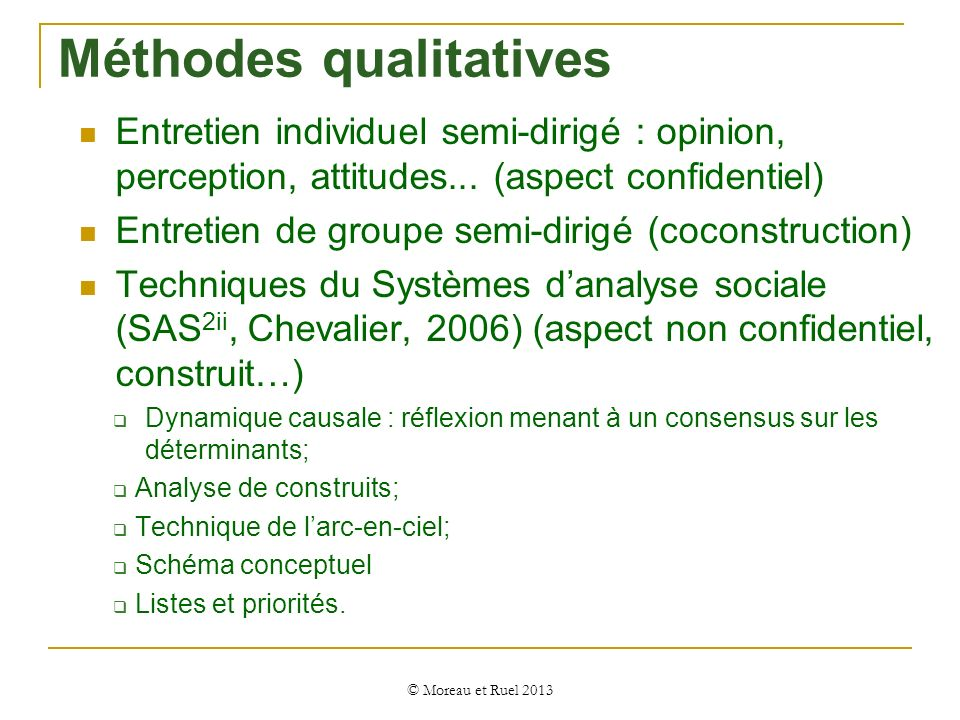 Méthodes qualitatives