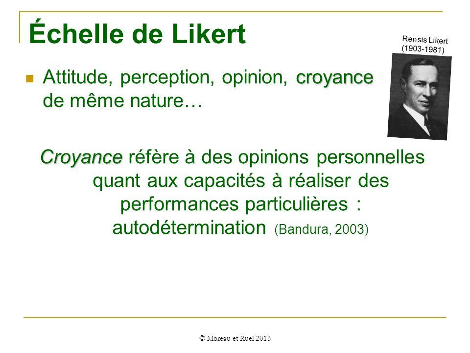 Échelle de Likert Rensis Likert (1903-1981) Attitude, perception, opinion, croyance de même nature…