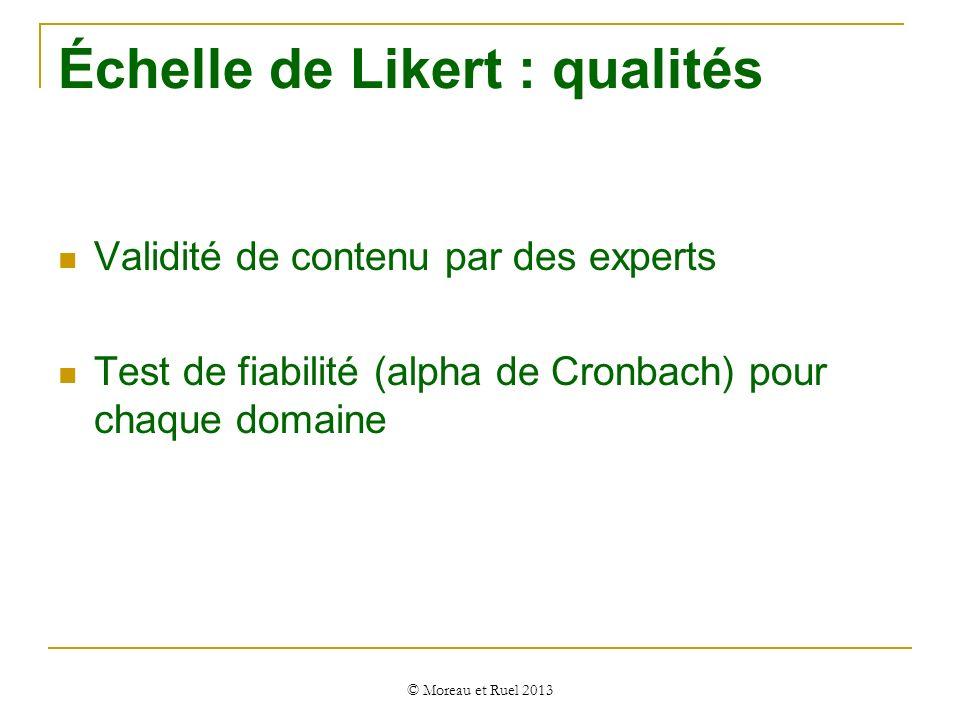 Échelle de Likert : qualités