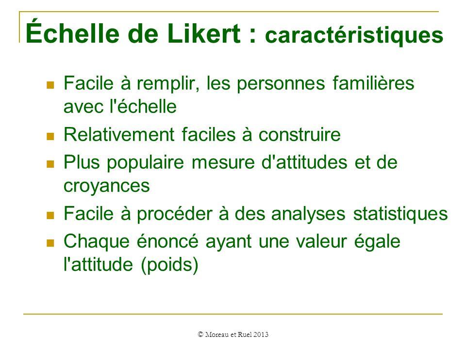 Échelle de Likert : caractéristiques