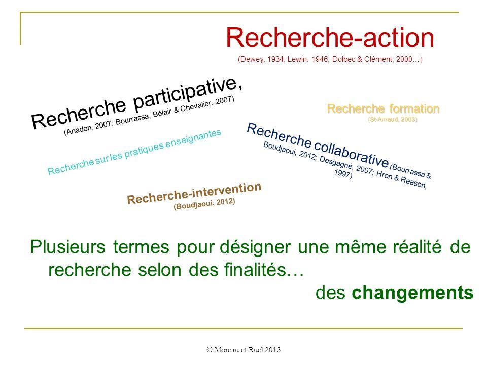 Recherche-intervention (Boudjaoui, 2012)