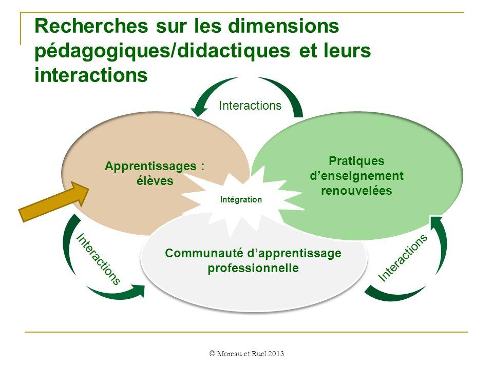Recherches sur les dimensions pédagogiques/didactiques et leurs interactions