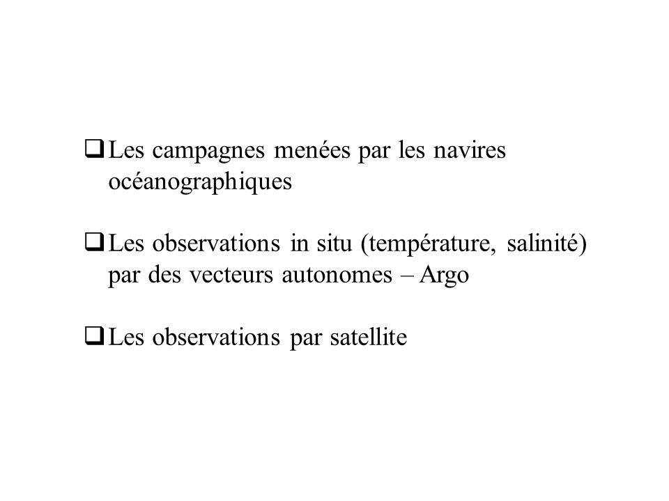 Les campagnes menées par les navires océanographiques