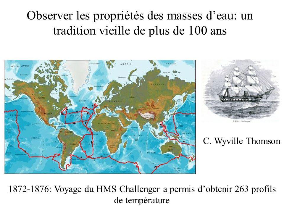 Observer les propriétés des masses d'eau: un tradition vieille de plus de 100 ans