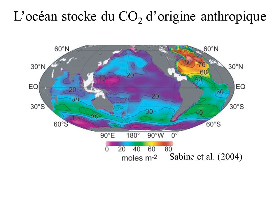 L'océan stocke du CO2 d'origine anthropique