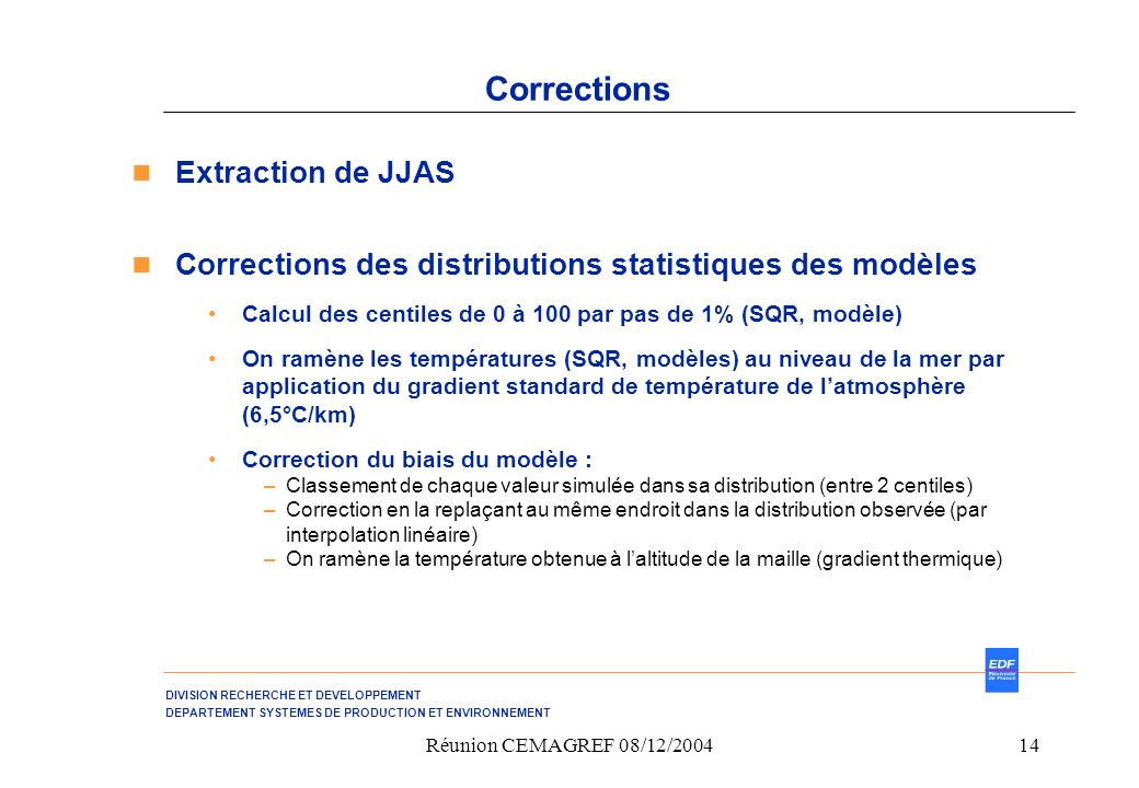 Corrections Extraction de JJAS