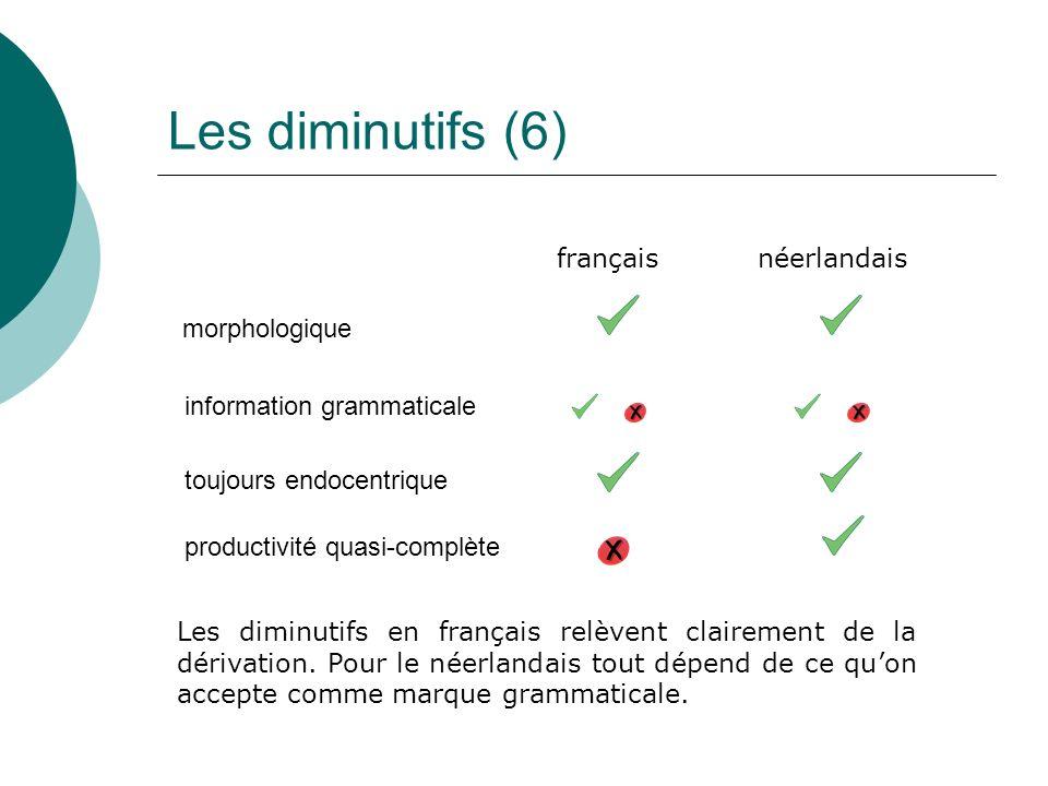 Les diminutifs (6) français néerlandais morphologique