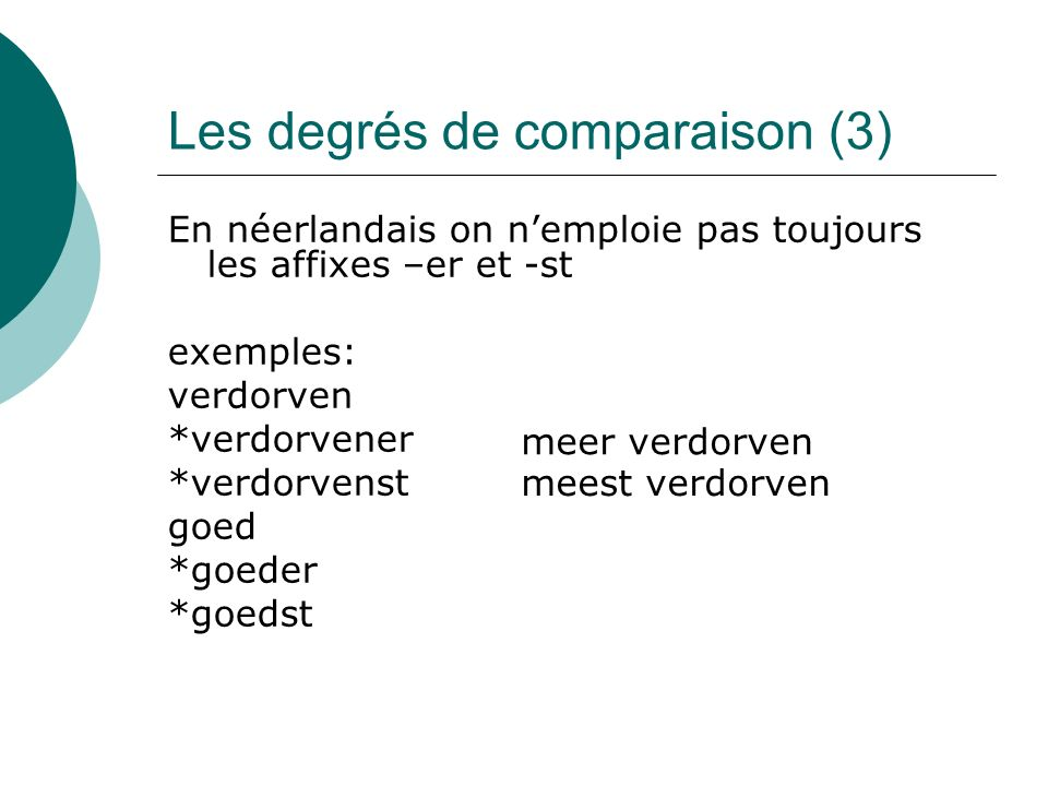 Les degrés de comparaison (3)
