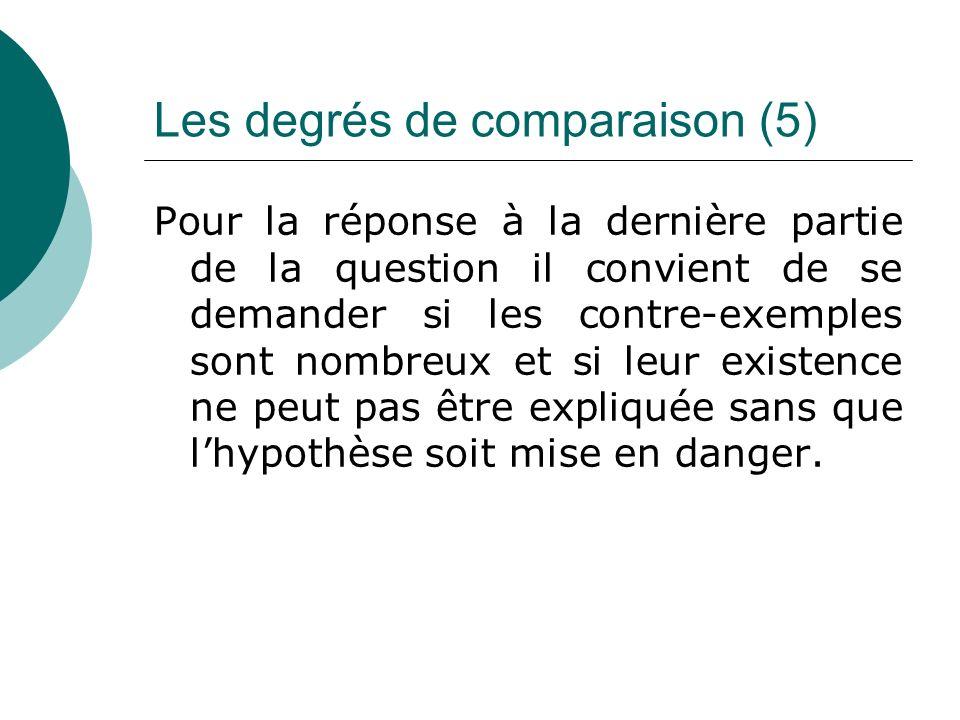 Les degrés de comparaison (5)