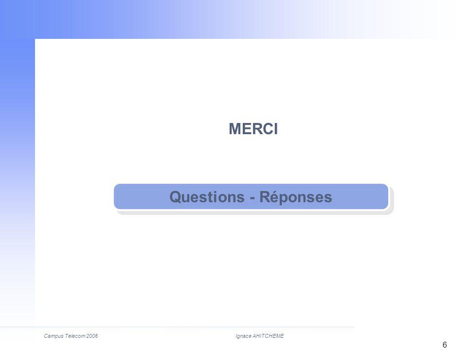 MERCI Questions - Réponses