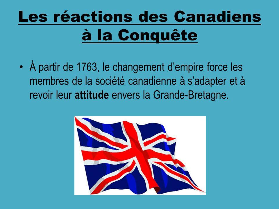 Les réactions des Canadiens à la Conquête