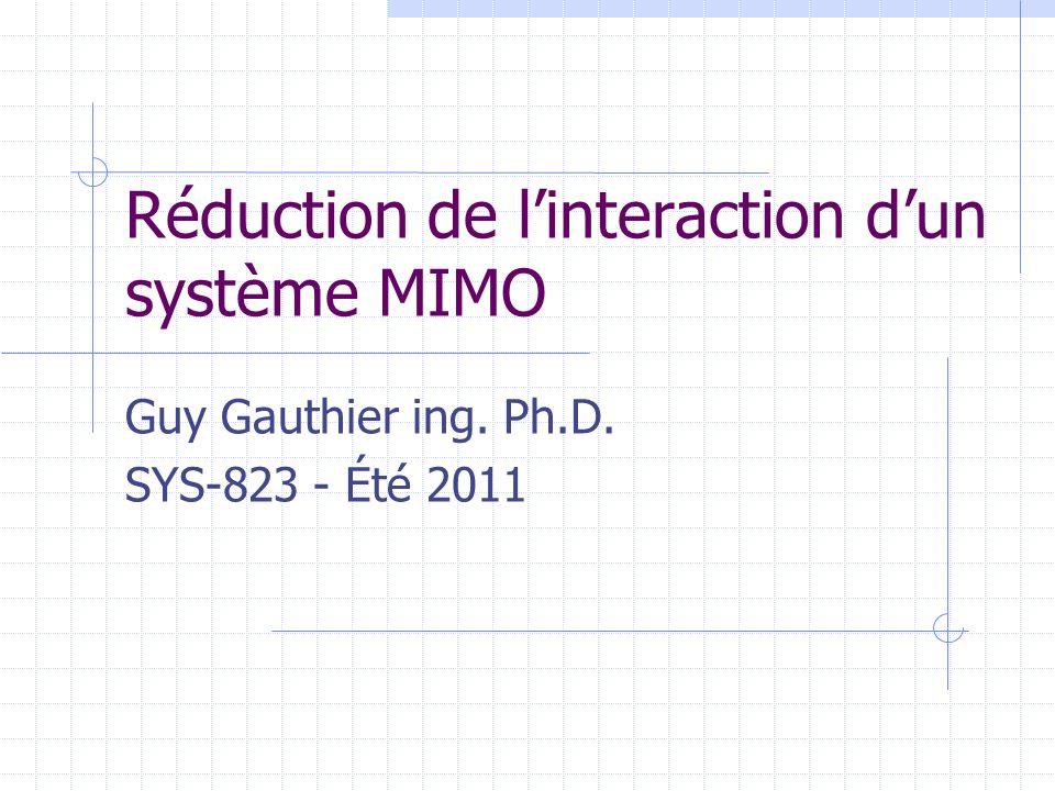 Réduction de l'interaction d'un système MIMO