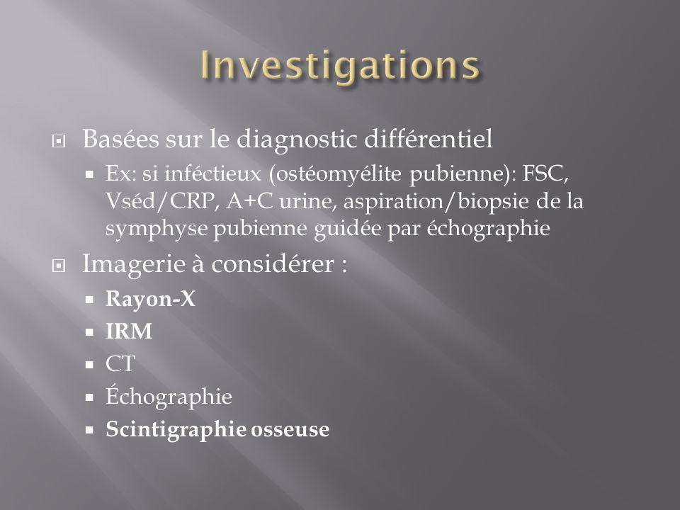 Investigations Basées sur le diagnostic différentiel