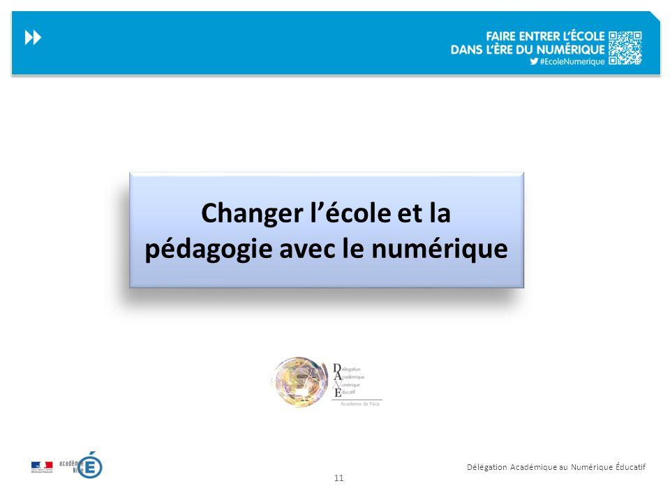 Changer l'école et la pédagogie avec le numérique