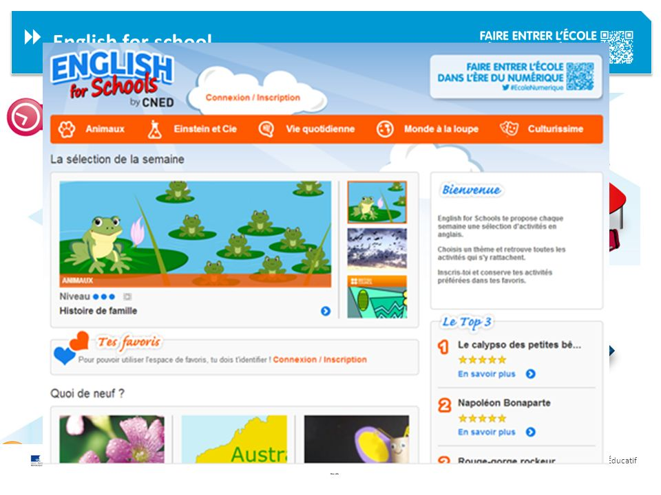 English for school English for school a pour objectif de :