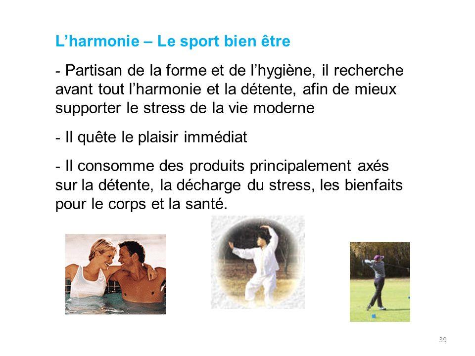 L'harmonie – Le sport bien être