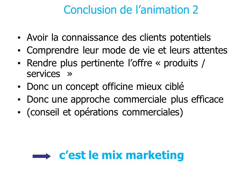 Conclusion de l'animation 2
