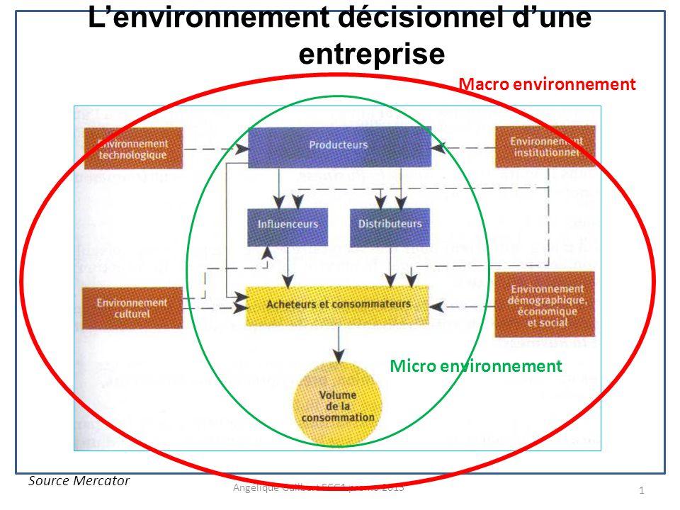 L'environnement décisionnel d'une entreprise
