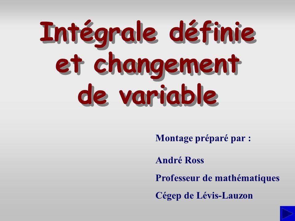 Intégrale définie et changement de variable