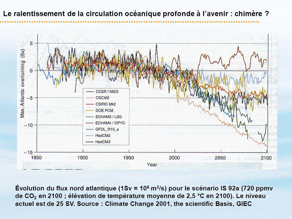 Le ralentissement de la circulation océanique profonde à l'avenir : chimère