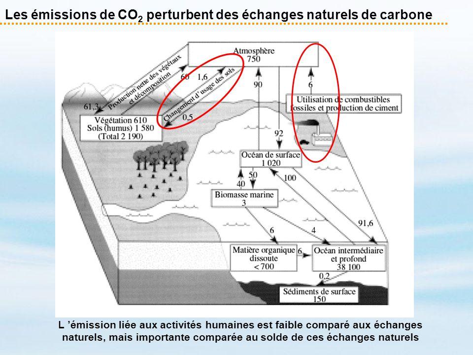 Les émissions de CO2 perturbent des échanges naturels de carbone