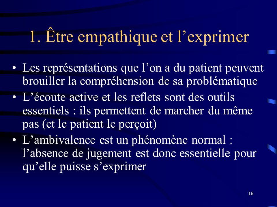 1. Être empathique et l'exprimer