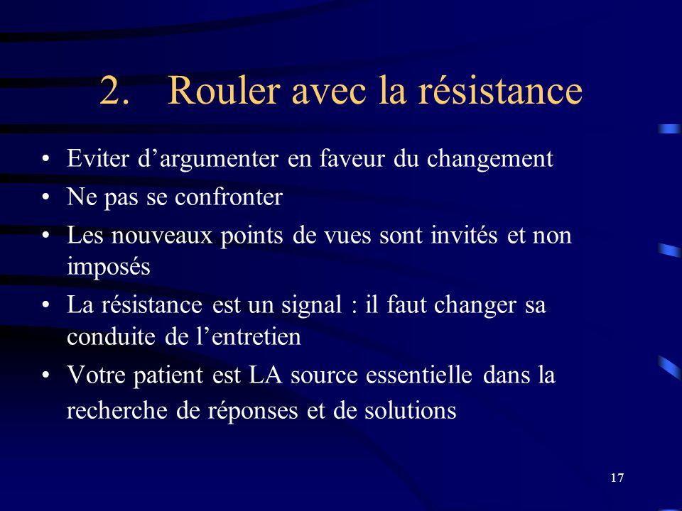 2. Rouler avec la résistance