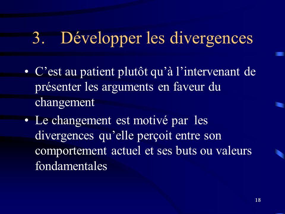 3. Développer les divergences