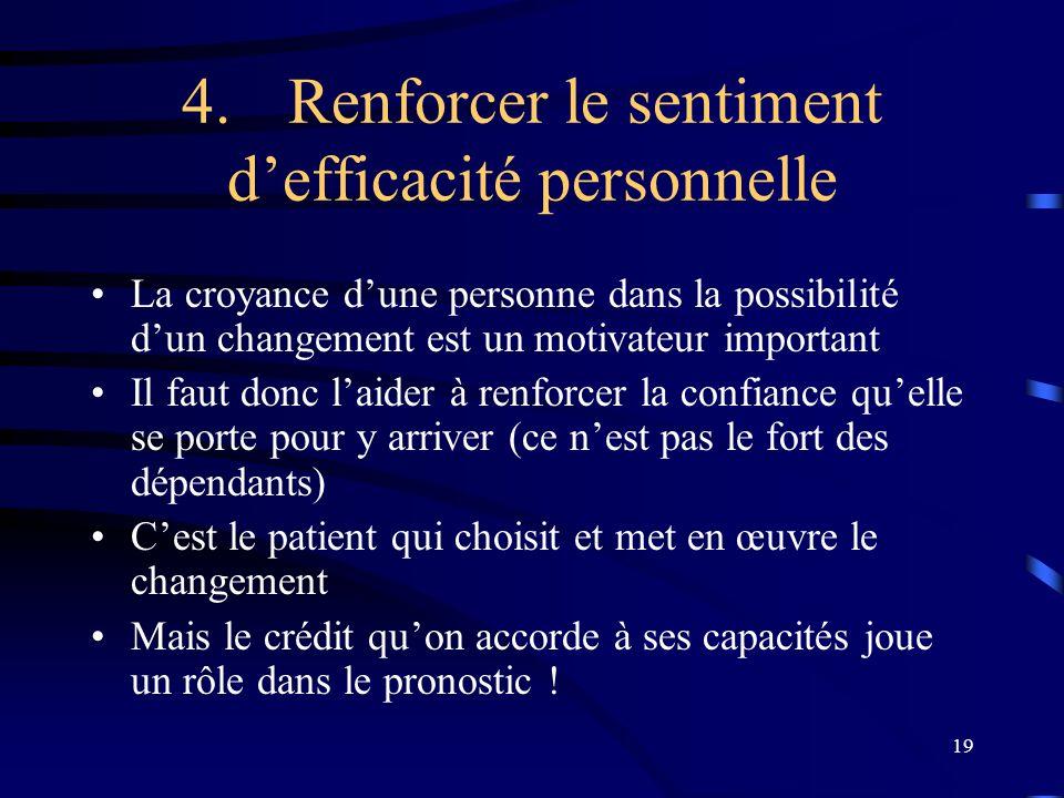4. Renforcer le sentiment d'efficacité personnelle