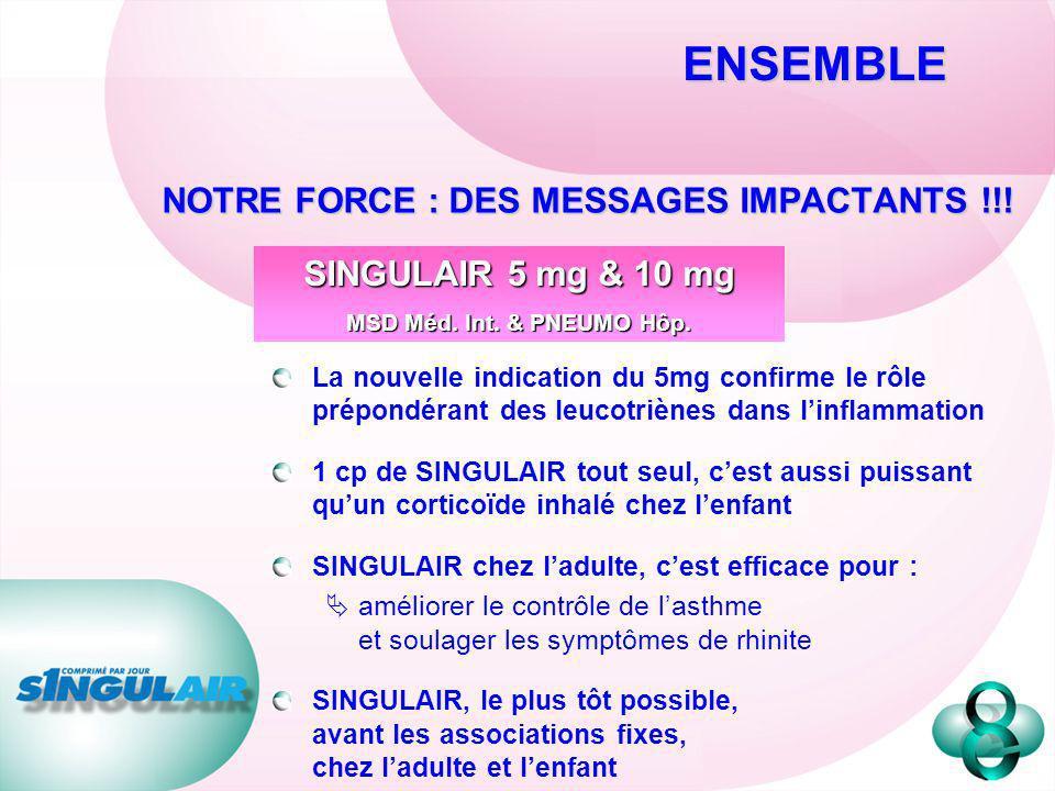 NOTRE FORCE : DES MESSAGES IMPACTANTS !!!