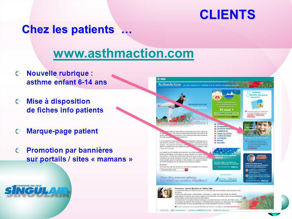 CLIENTS www.asthmaction.com Chez les patients …