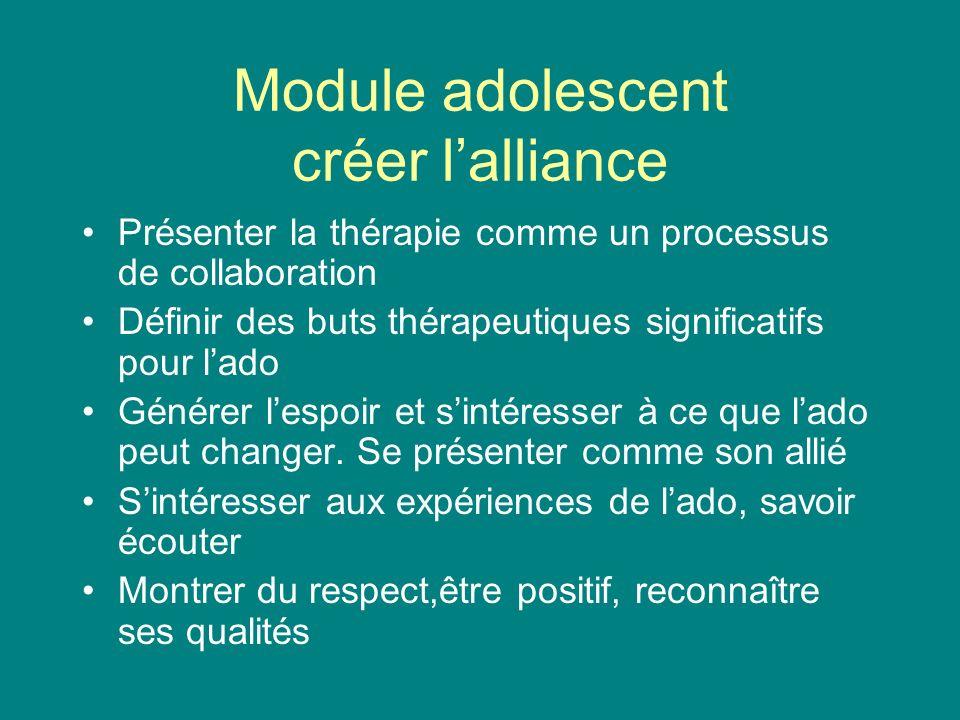 Module adolescent créer l'alliance