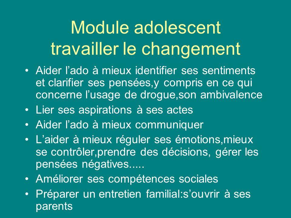 Module adolescent travailler le changement