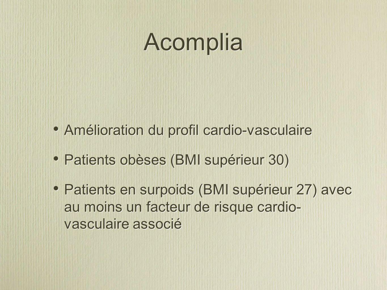 Acomplia Amélioration du profil cardio-vasculaire