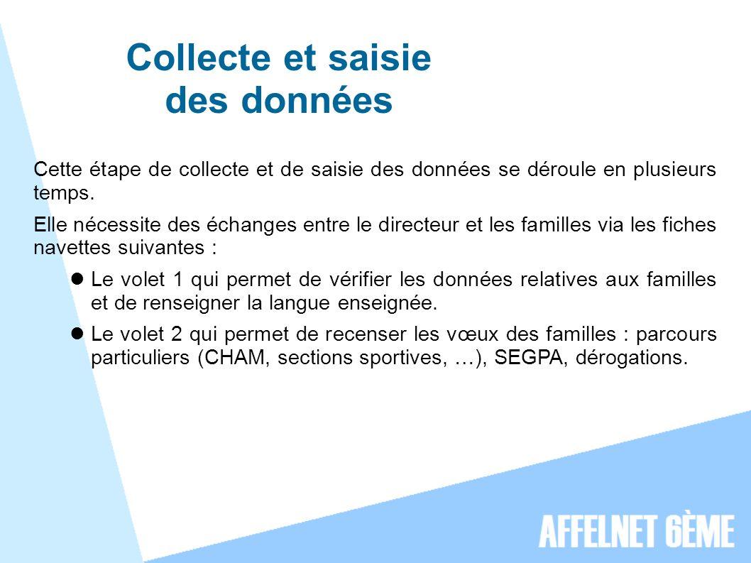 Collecte et saisie des données