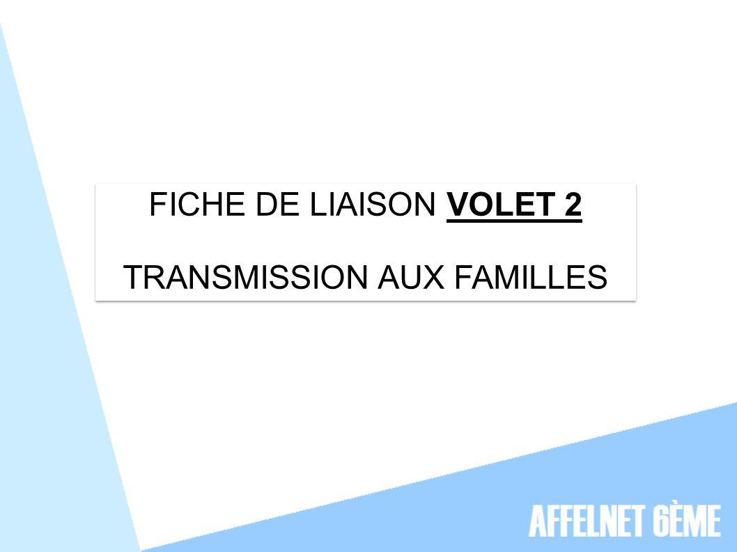 TRANSMISSION AUX FAMILLES